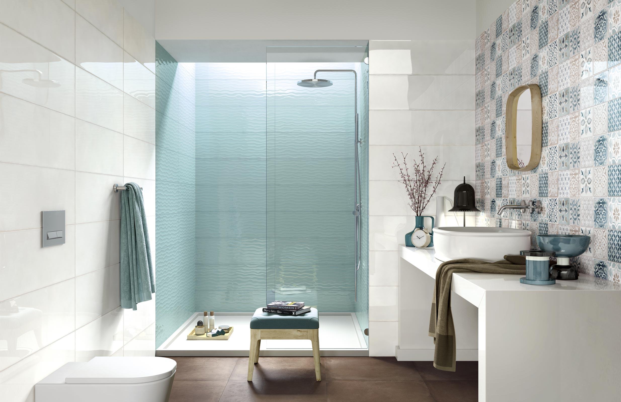 Azulejos Celeste para Cuarto de Baño | Ragno