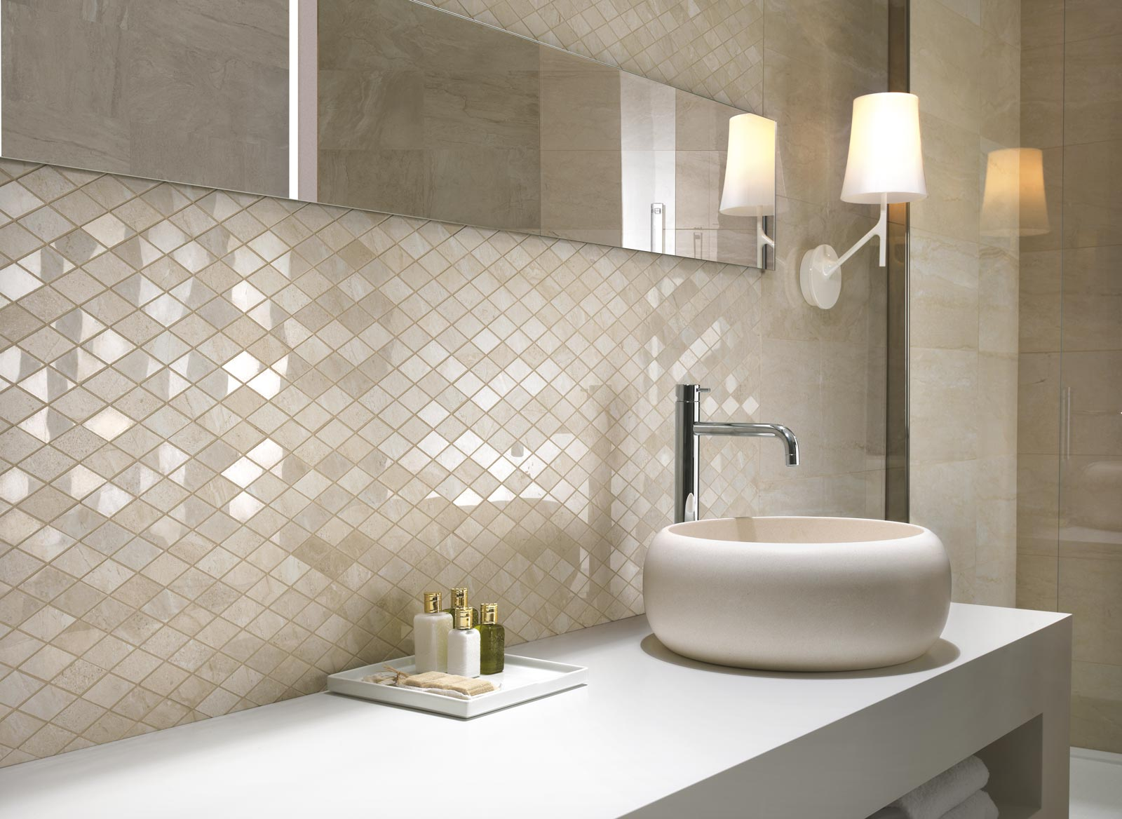 Azulejos Baño Gres Porcelanico:Bathrooms with Porcelain Tile Ragno