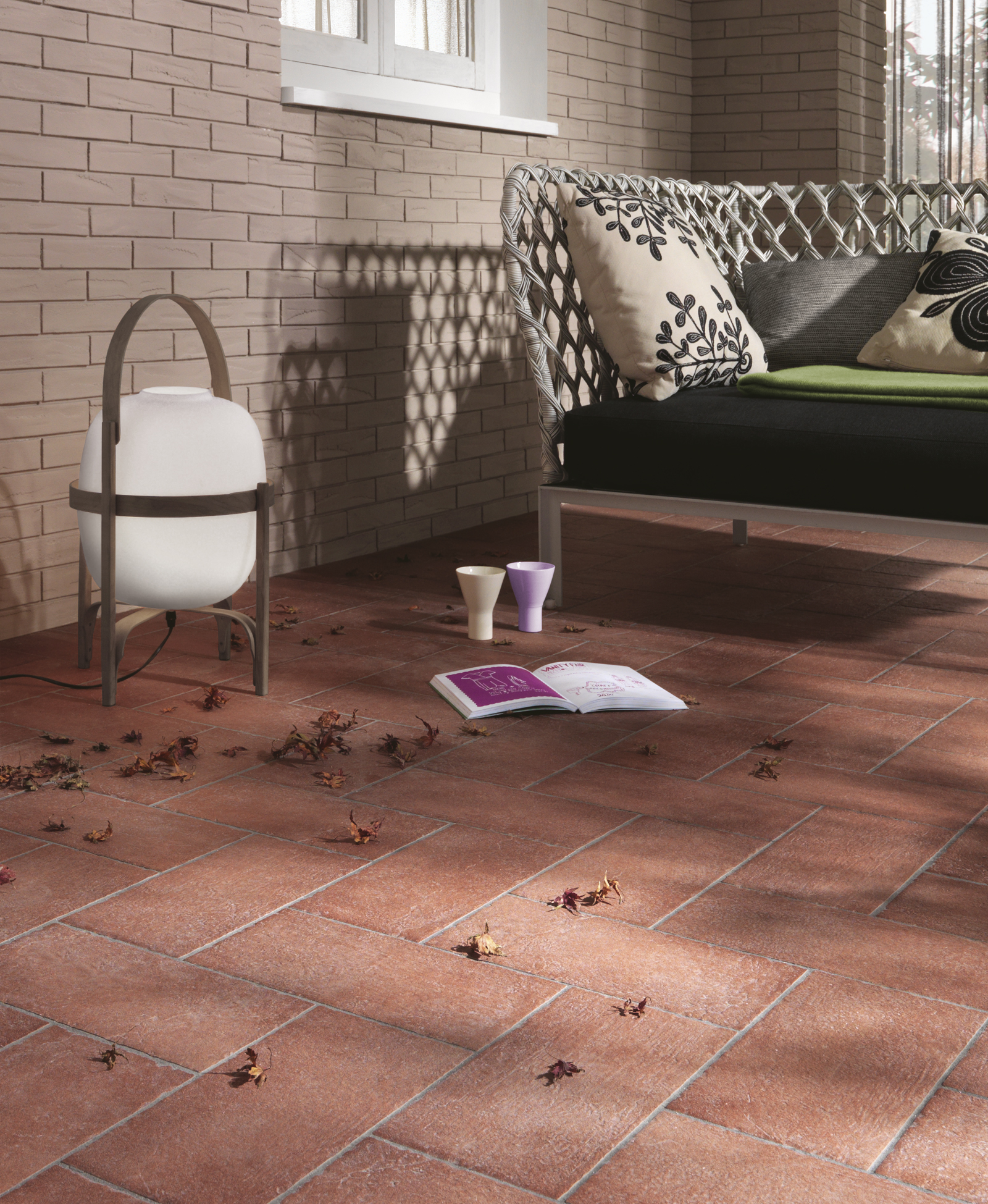 Colecci n terre pavimentos de efecto cotto para - Azulejo 15x15 blanco ...